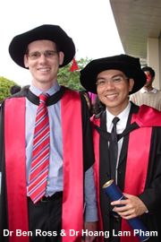 Dr Ben Ross and Dr Hoang Lam Pham